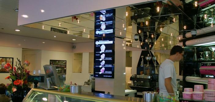 digital signage Van de Pol plaatst digital signage bij ijssalon Bernardo's Ede bernardo digital signage 702x336
