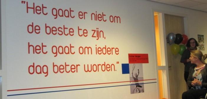 Muurschilderingen sieren het sport- en onderwijsgebouw op Papendal Muurschilderingen sieren het sport- en onderwijsgebouw op Papendal 100 702x336