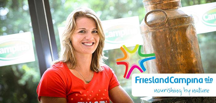 binnen en buitenreclame Binnen en buitenreclame Friesland Campina – op naar goud! dafne schippers friesland campina