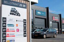 Verzamel zuil Bellstraat bedrijfsverzamelgebouw Bewegwijzering en reclamepanelen voor Bedrijfsverzamelgebouwen bellstraat header 214x140