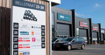 Verzamel zuil Bellstraat bedrijfsverzamelgebouw Bewegwijzering en reclamepanelen voor Bedrijfsverzamelgebouwen bellstraat header 351x185