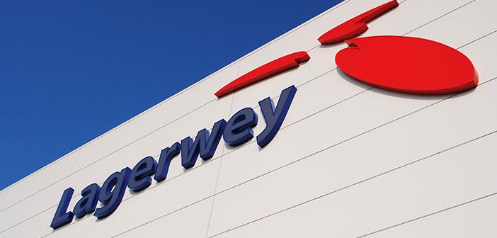 Lagerwey Gevel Logo led verlichte gevelreclame Nieuwe windturbinefabriek voorzien van led verlichte gevelreclame lagerwey gevel logo header