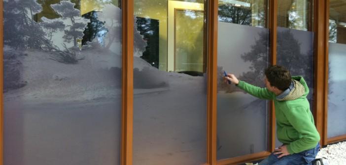 glasfolie Rustgevende sfeer voor Gezondheidscentrum Lunteren met full colours en glasfolie zorgpraktijk lunteren glasfolie 03 702x336